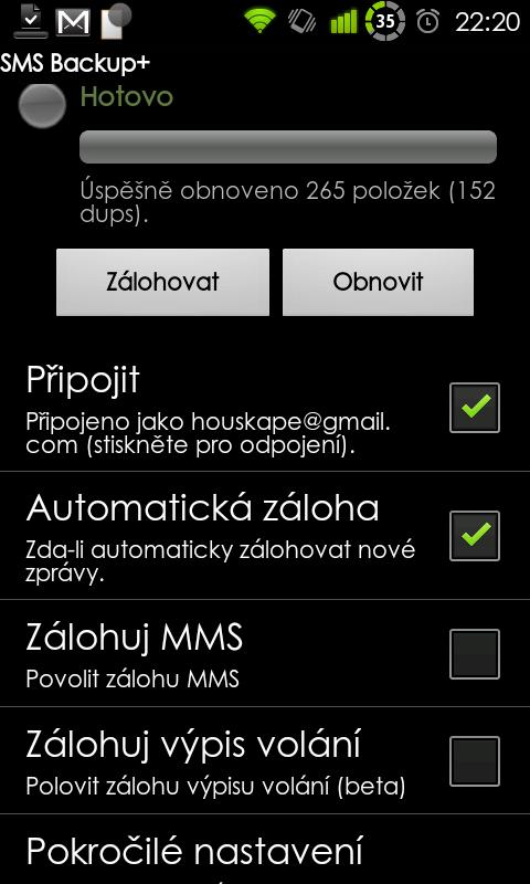 Jednoduché a rychlé zálohování v podání SMS Backup+