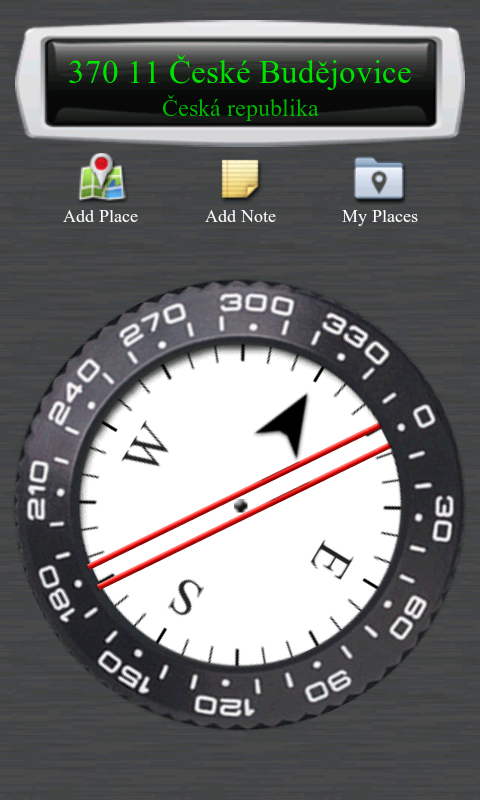 Analogové rozložení kompasu