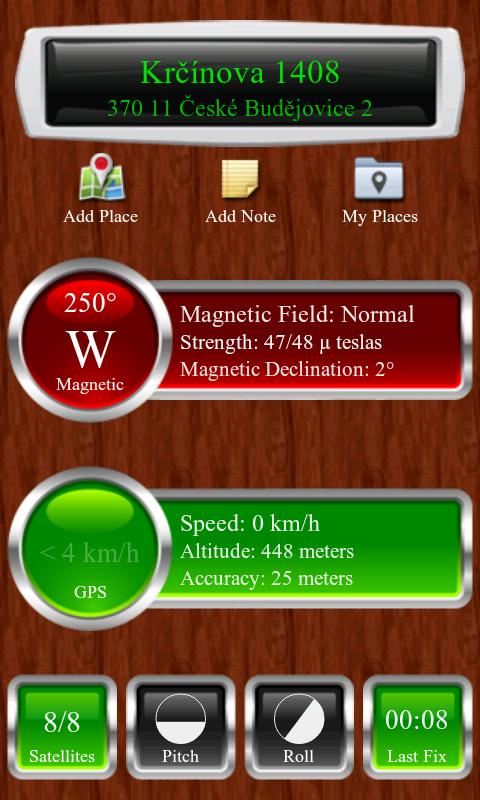 Rozložení 'GPS'