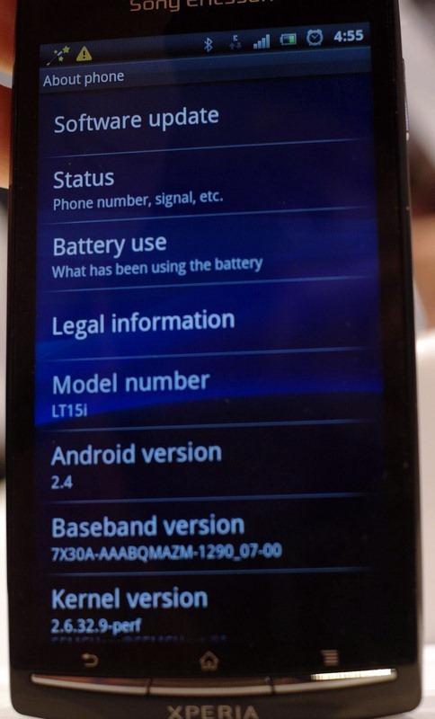Sony Ericson Xperia Arc 2.4
