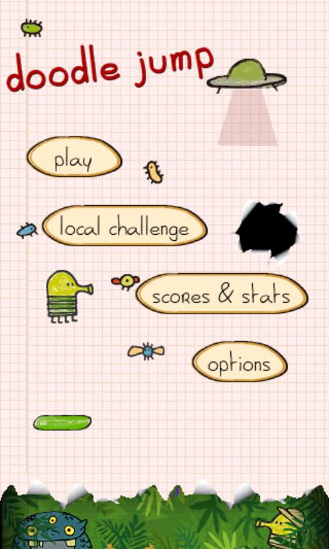 Doodle Jump - menu