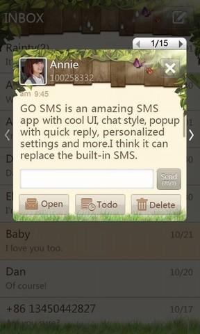 GO SMS Springtime theme
