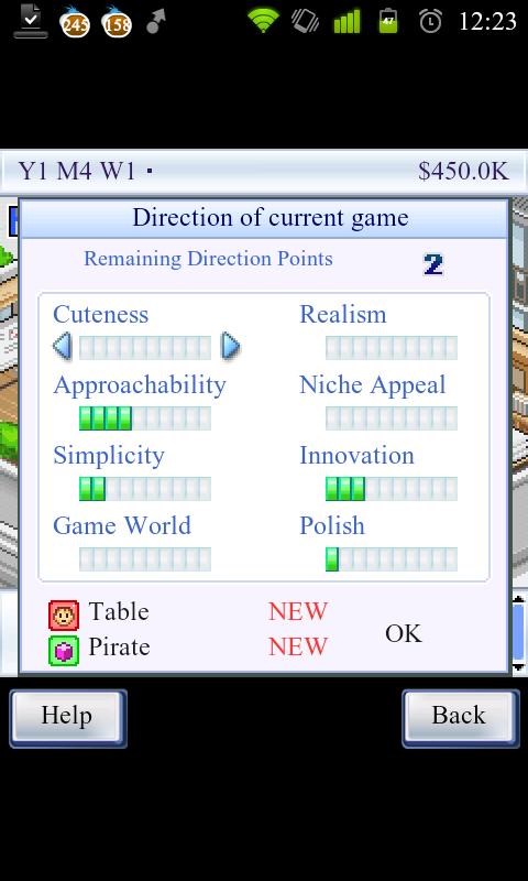 Game Dev Story - Tak jakou hru to dneska uděláme?