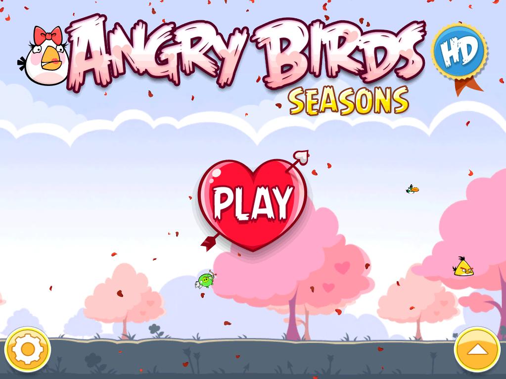 AngryBirds Valentýnská edice