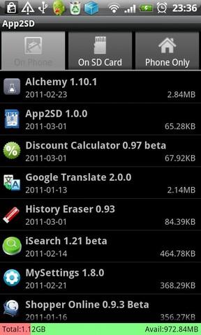 App2SD - Save phone storage