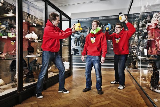 Mikael Hed, Niklas Hed, Jaakko Iisalo (Angry Birds developers, Rovio)