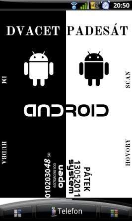 Ukázka použití aplikace Minimalistic Text.