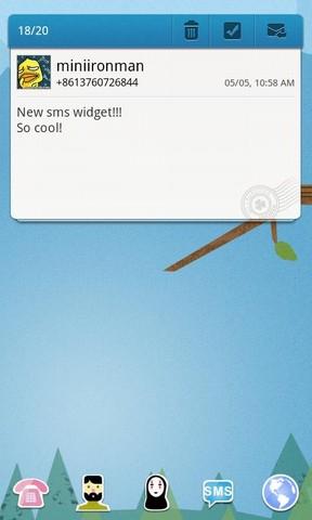 Message GoWidget