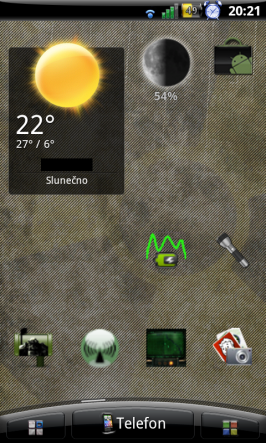 Widget aplikace Moon 3D.