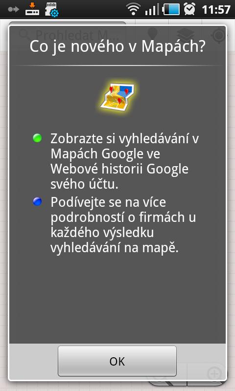 aktualizace Google Maps 5.4.0