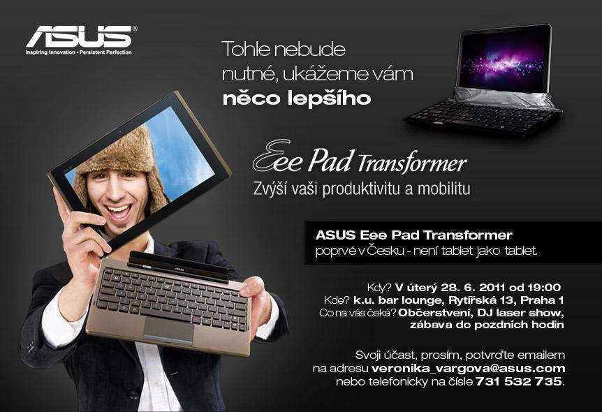 Eee Pad transformer - prezentace v České republice
