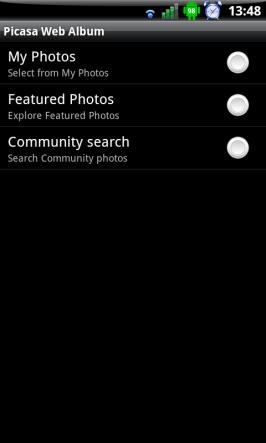 Výběr pozadí v LW MultiPicture s pluginem pro Google Picasa.