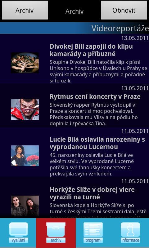 Óčko TV live