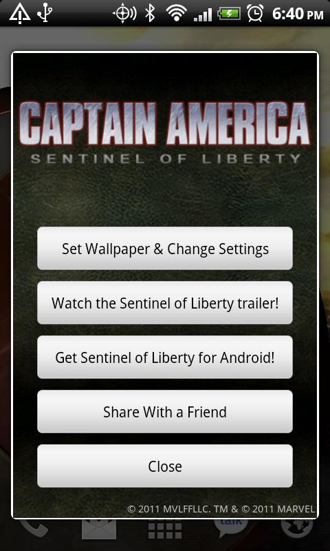 Captain America Live Wallpaper