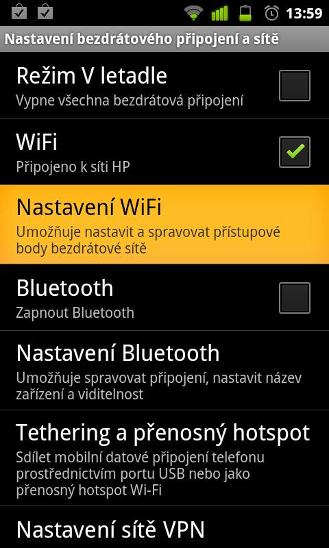 JNT WiFI2 Jak se připojit s Androidem k WiFi síti
