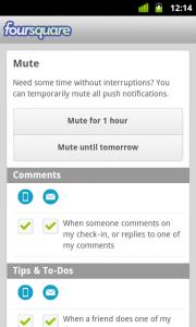 Foursquare pro Android