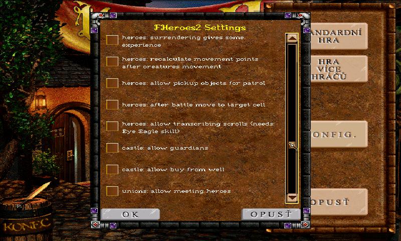 Konfigurace Free Heroes II.