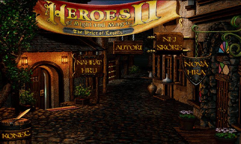 Úvodní obrazovka pro Free Heroes 2.