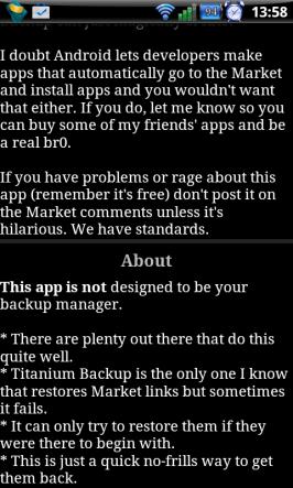 Info v app QuikMarketLinks.
