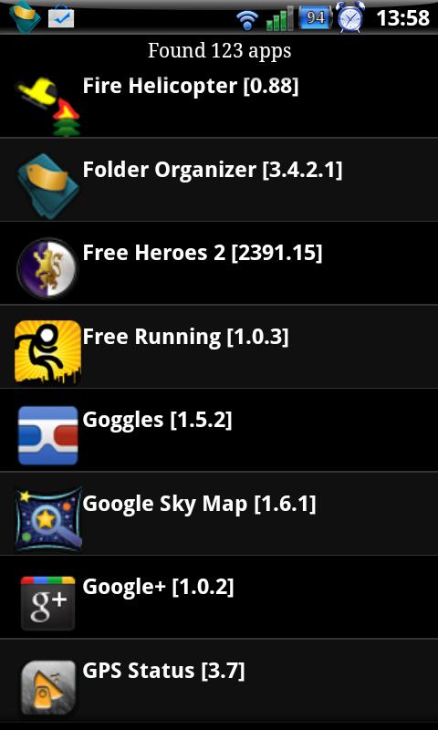 Hlavní obrazovka app QuikMarketLinks