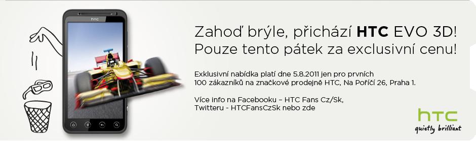 HTC Evo 3D - zahájení prodeje - akční nabídka