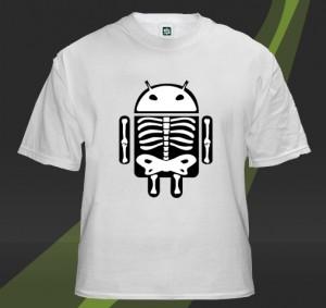AndroidSkeleton bílá varianta