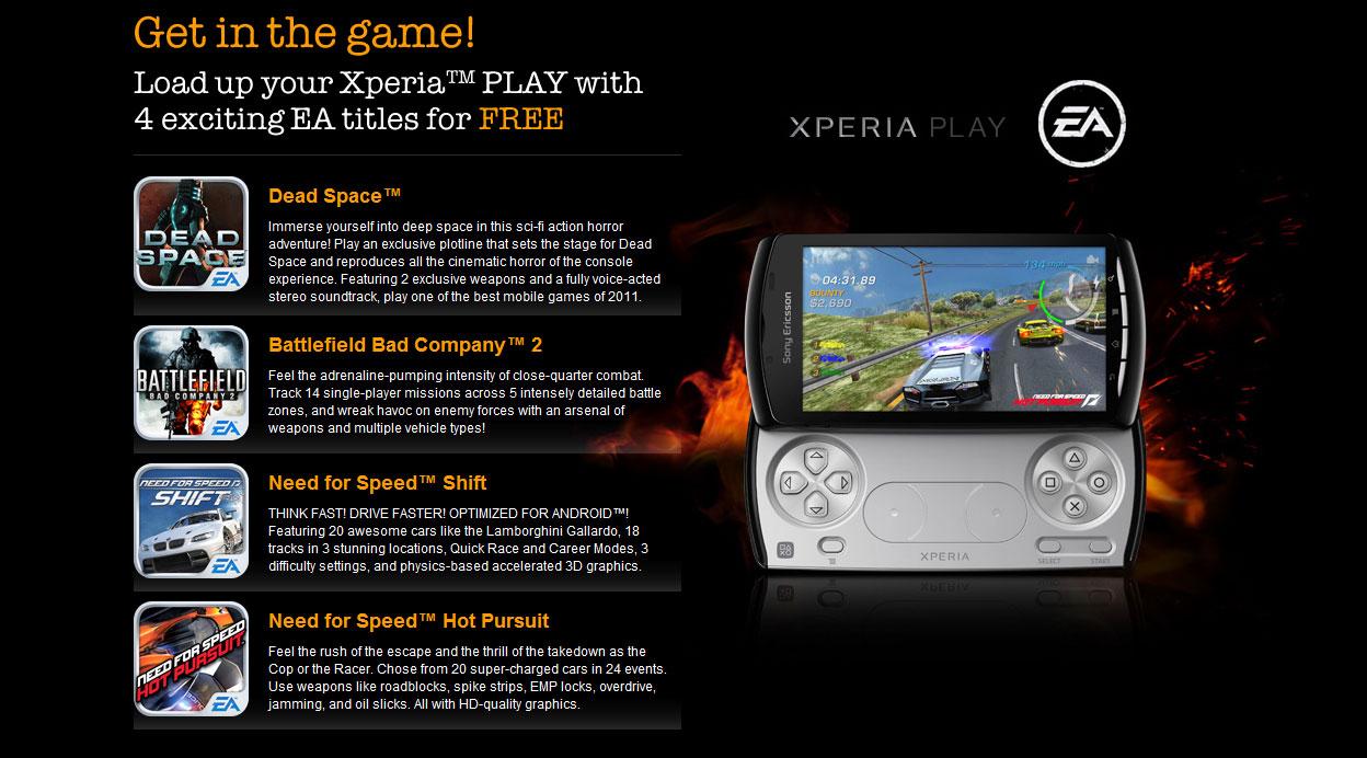 Hry zdarma na Sony Ericsson Play