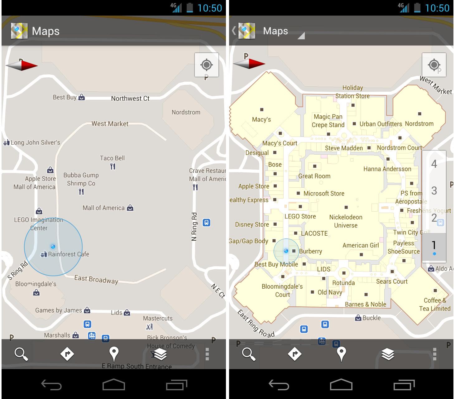 map60 3 Google mapy 6.0   přivítejte indoor navigaci