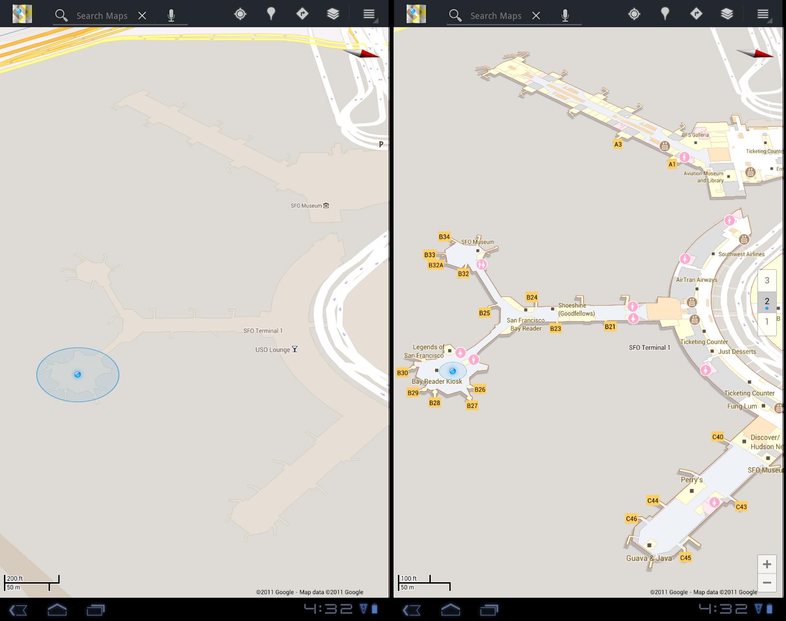 map60 4 Google mapy 6.0   přivítejte indoor navigaci