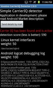 Voodoo Carrier IQ Detector
