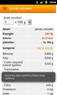 Kaloricke tabulky