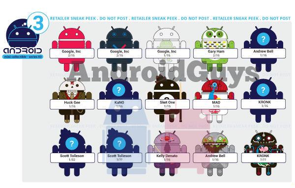 android collectible series3 leak Jak bude vypadat třetí série figurek Androidů od Dyzplastic?