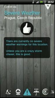 1weather 5 190x335 1Weather   stylová aplikace pro předpověď počasí