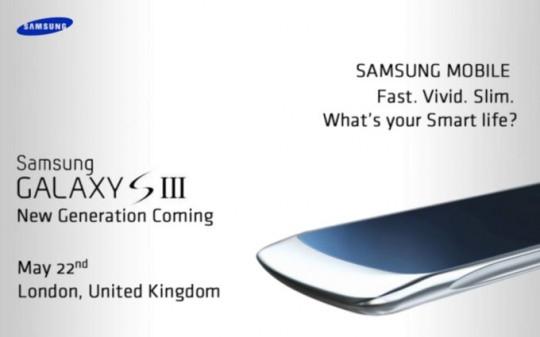 Samsung Galaxy S III pozvánka