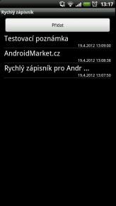 rychly zapisnik 2 164x290 Rychlý zápisník pro Android