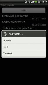 rychly zapisnik 3 164x290 Rychlý zápisník pro Android