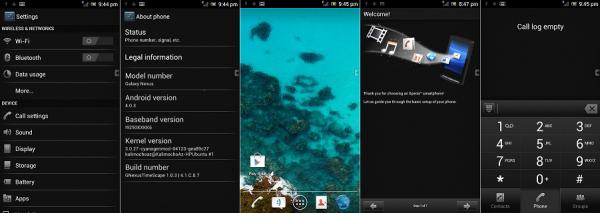 Sony Ericsson Xperia Arc S ROM portována na Galaxy Nexus