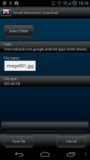 android gmail download rar attachment