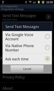 Google Voice SMS Integration