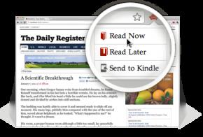 Doplněk Readability  pro Chrome