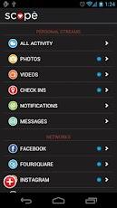 Homescreen SocialScope