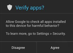Android 4.2 nabídne možnost antivirové / antimalwarové kontroly aplikací