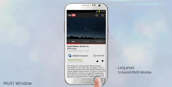 multiwindowjpg XDA: Zpřístupněte okenní multitasking na Samsungu Galaxy Note 2 pro všechny aplikace