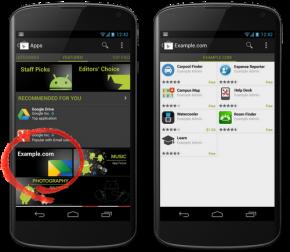 Google Play soukromý kanál
