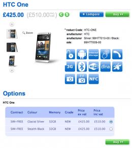 HTC One cena