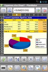 Office 2012 PlanMaker Mobile
