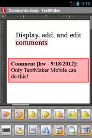 Office 2012 TextMaker Mobile