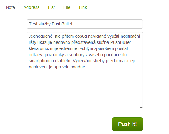 pushbullet web 2