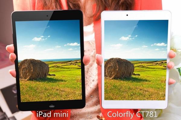 Colorfly CT781 vs iPad Mini