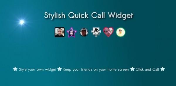 Stylish Quick Call Widget